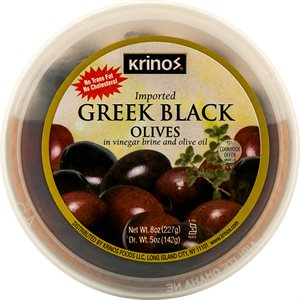 KRINOS Black Olives 8oz