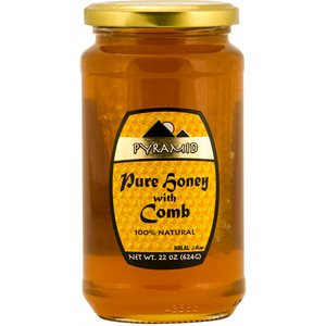 PYRAMID Honey with comb 624g