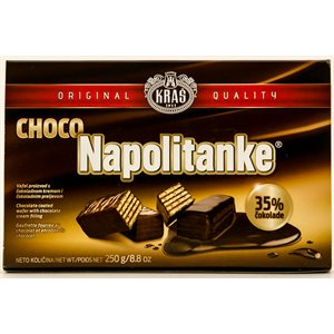 KRAS Napolitanke Chocolate Covered Wafers 250g