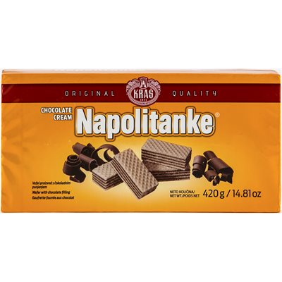 KRAS Napolitanke Blok Chocolate Cream Wafers 420g