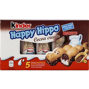 FERRERO Kinder Happy Hippo Biscuits with Cocoa Cream 103
