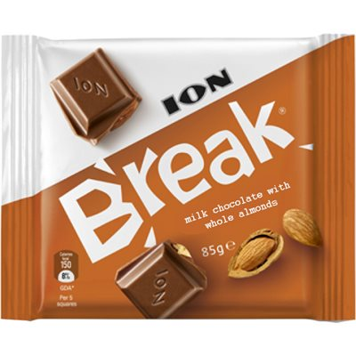 ION Break Milk Chocolate with whole almonds 85g