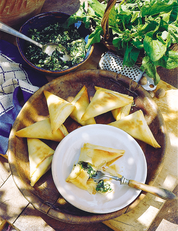 Spinach and Cheese Triangles